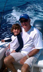 Dan Fulford fishing with his grandson.